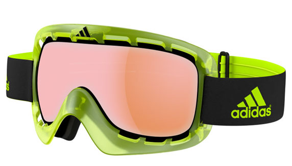 Adidas green Ski Goggles LST bright lens