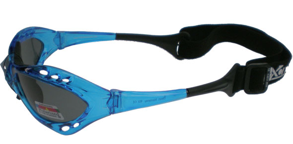 Blue Water sports goggles with polarised lenses