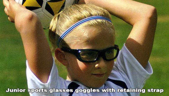 640e856b5539 Childrens Prescription Sports Glasses with retaining strap -