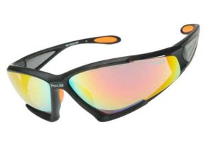Cycling glasses with interchangeable lenses