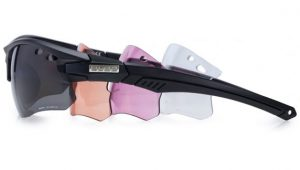Interchangeable lens cycling glasses