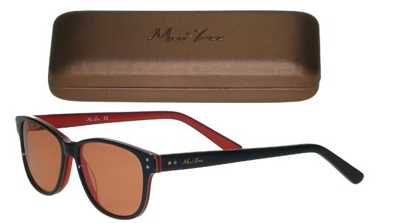 Mai Lee blue and red frames with hard case