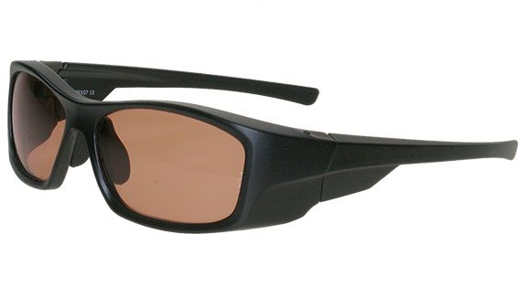 Help for suffers of migraine headaches the SRX FL-41 Glasses Black Unisex frame with side-outs