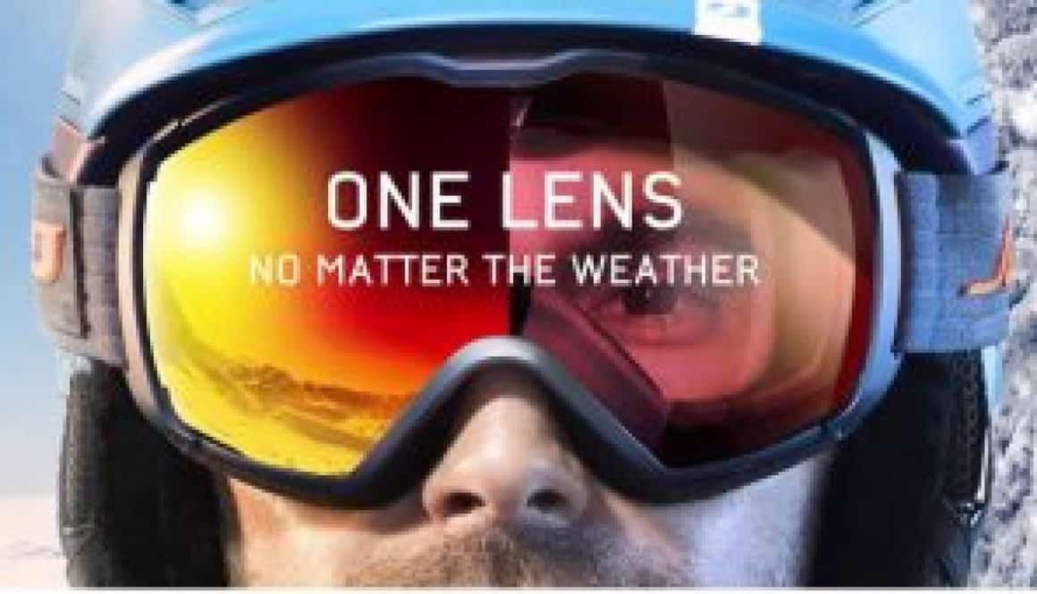 Light reacting snow lenses