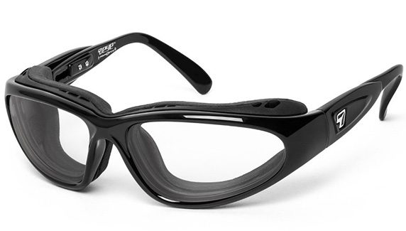 7 Eye Cape black frame clear lenses