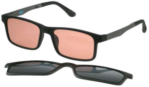 FL-41 glasses with Clip On polarised filter